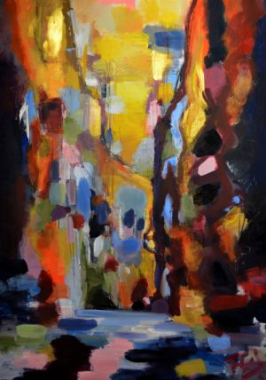 Mdina street of light 100 x 70 cm