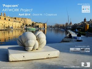 'Popcorn' sculpture: Dock 1, Malta, April 2014