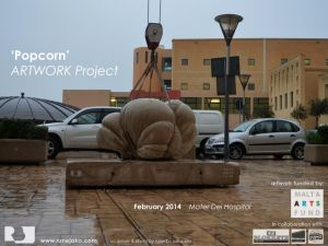 'Popcorn' sculpture: Mater Dei Hospital February 2014