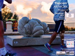 'Popcorn' sculpture: Sliema Promenade December 2013