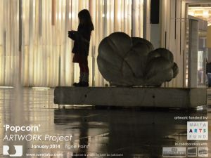'Popcorn' sculpture: Tigne Point January 2014