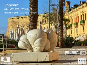 'Popcorn' sculpture: Valletta Waterfront, November