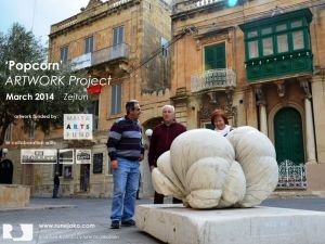 'Popcorn' sculpture: Zejtun, Malta, March 2014