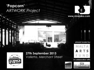 On gantry crane at Blokrete ltd. , Popcorn Artwork Project, Concrete