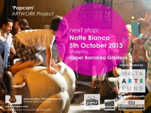 'Popcorn' sculpture: notte bianca %26 science in the city