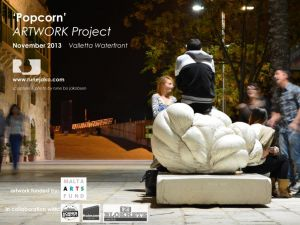 'Popcorn' sculpture: Valletta Waterfront, November 2013